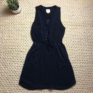 Anthropologie Maeve Navy sleeveless dress